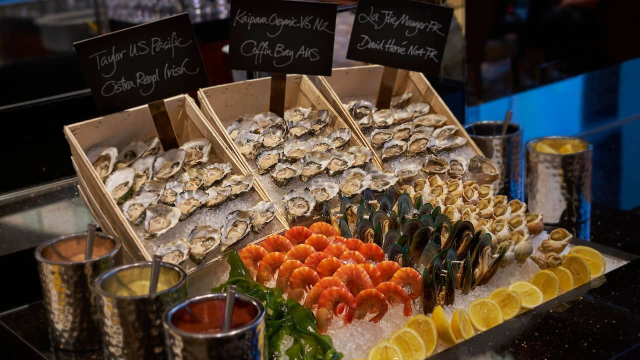 Tiffin Seafood station