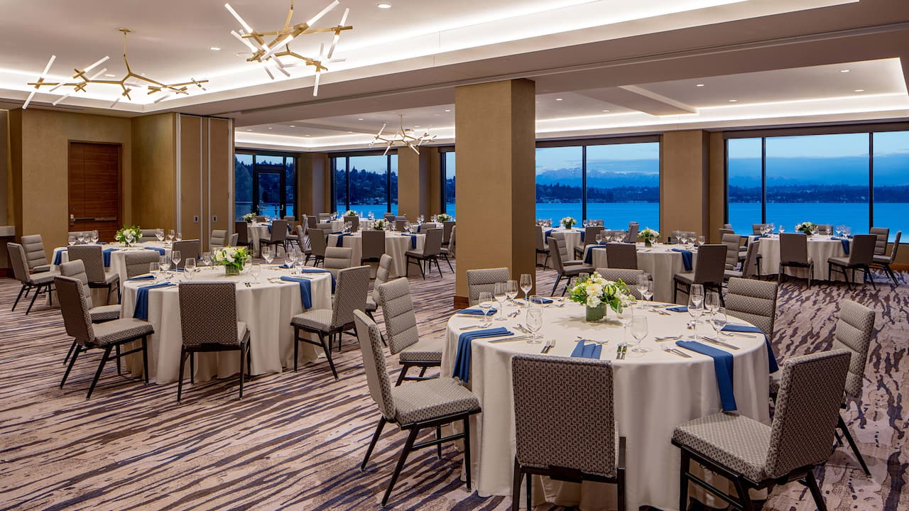 Banquet hall Hyatt Regency Lake Washington at Seattle's Southport