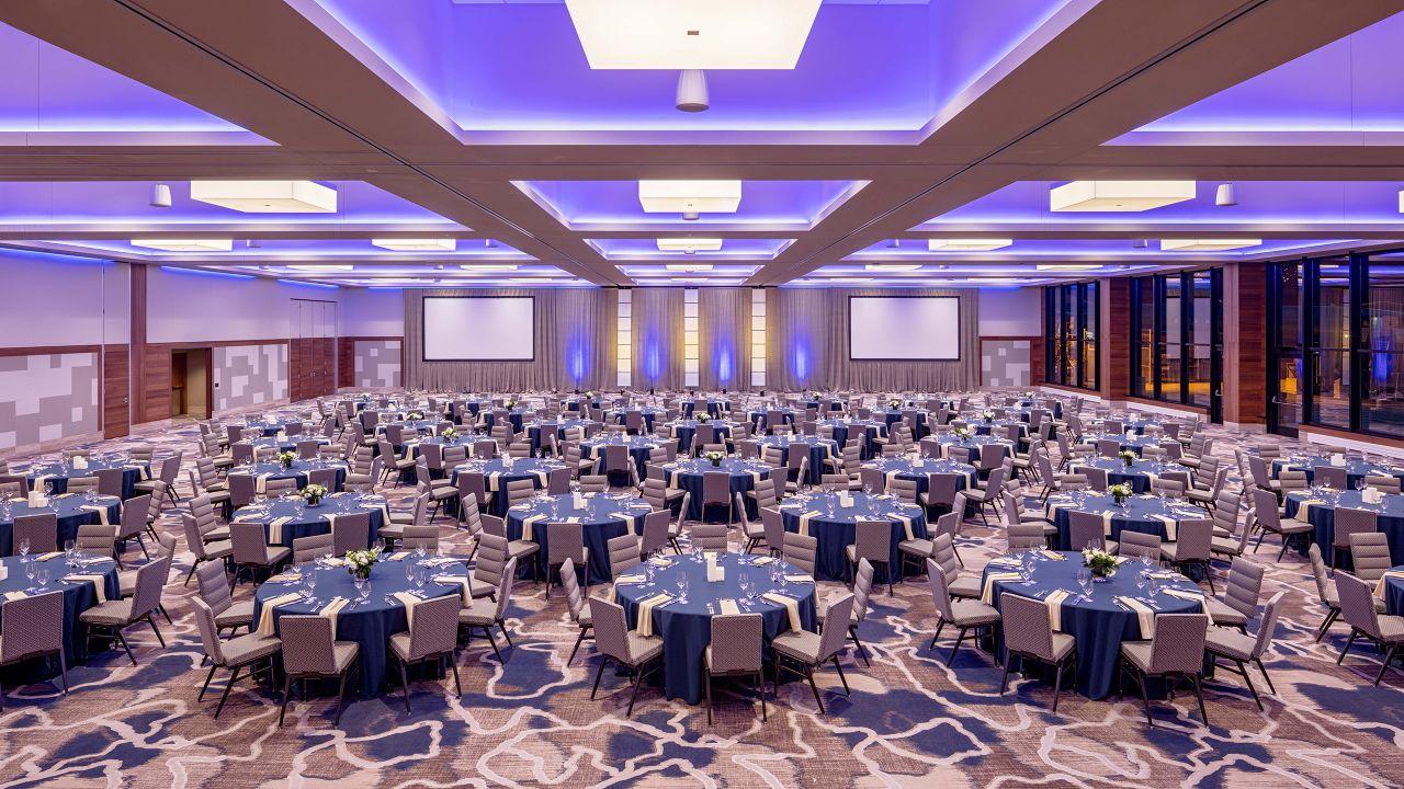 Ballroom event set up