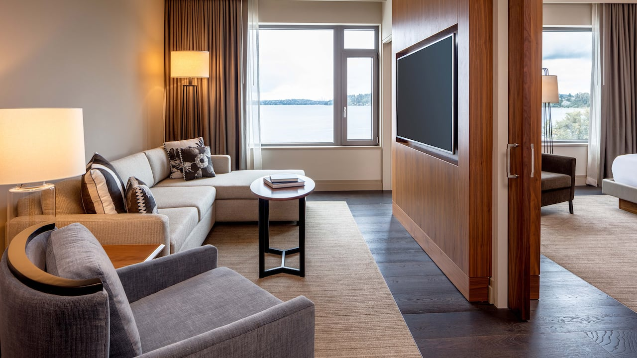 Executive King Suite with a view and ADA shower Hyatt Regency Lake Washington at Seattle's Southport