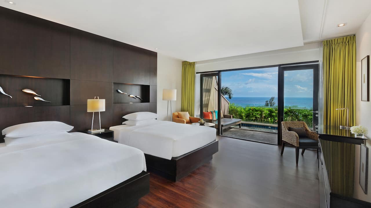 5-star hotel in Phuket 2 Twin Beds Ocean View Club Access with Plunge Pool