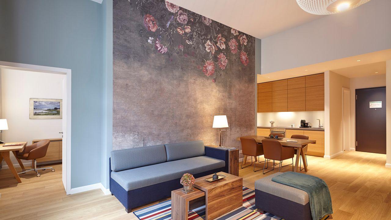 Studio Suite Living Room And Kitchen