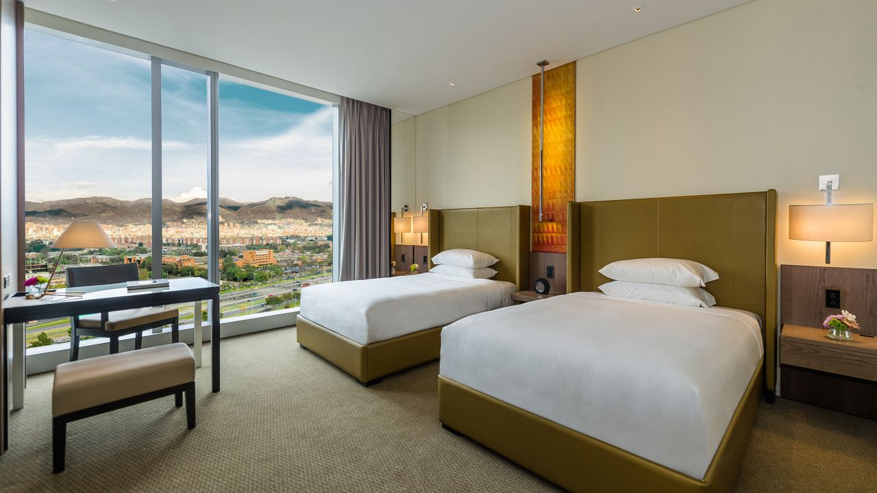 Grand Hyatt Bogota Twin Bedroom View