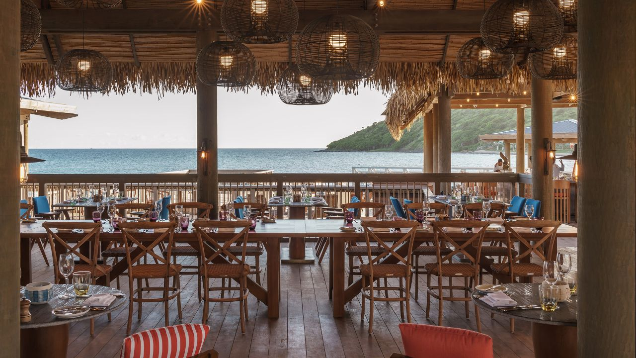 The Fisherman's Village beach patio