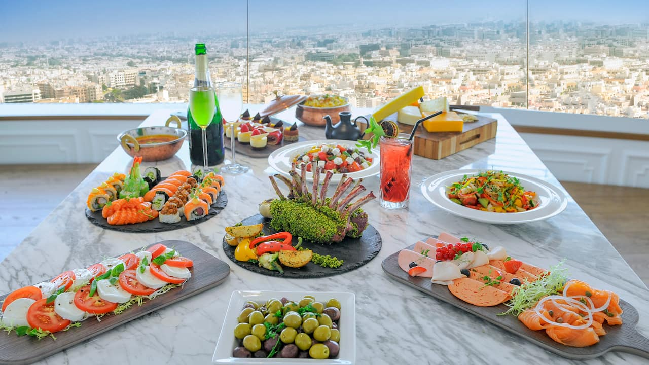 Friday Brunch at Al Dawaar, Dubai's only revolving restaurant