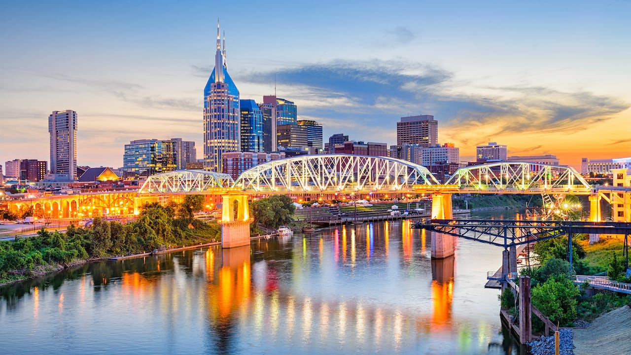 Nashville City Skyline by Holston House Nashville