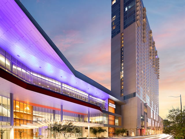 Evening Exterior View Grand Hyatt San Antonio