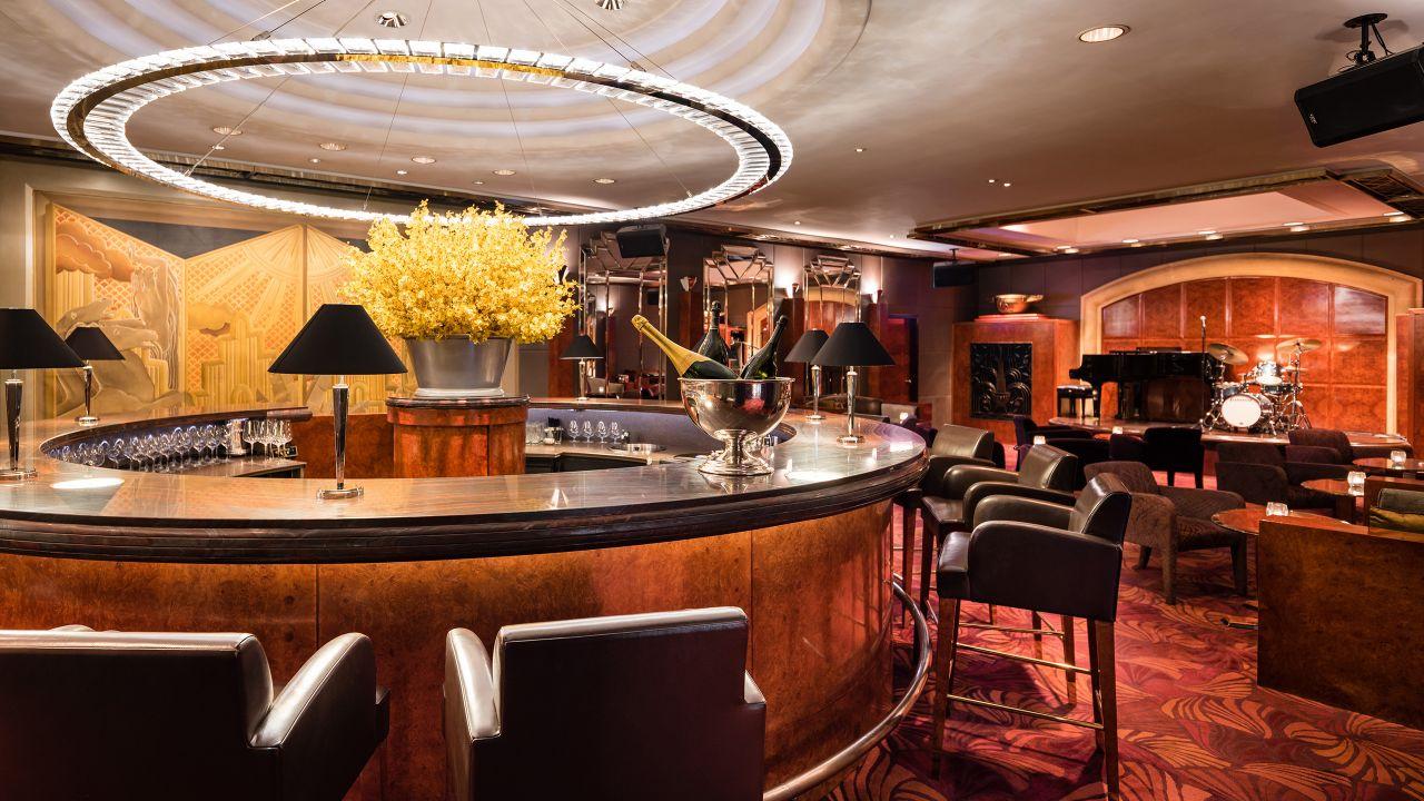 Champagne Bar Interior Circular Bar