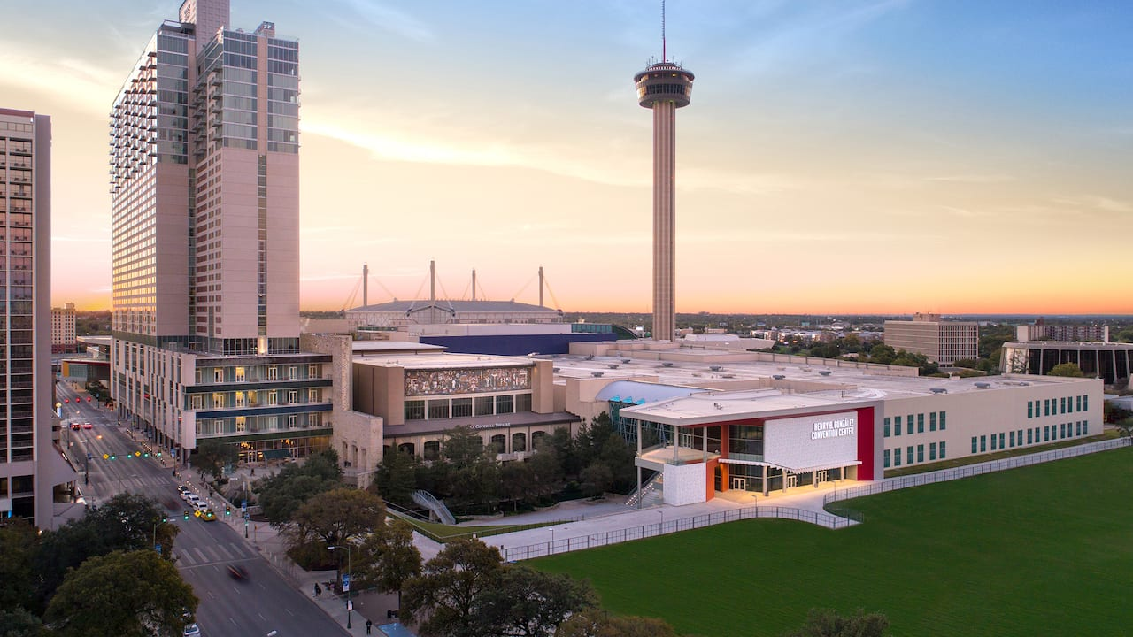 View of the Henry B. Gonzalez Convention Center in San Antonio