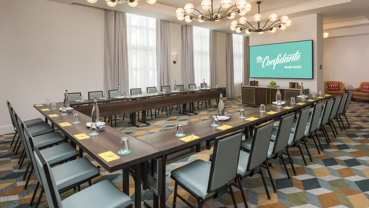 Breakout Meeting Space at The Confidante Miami Beach
