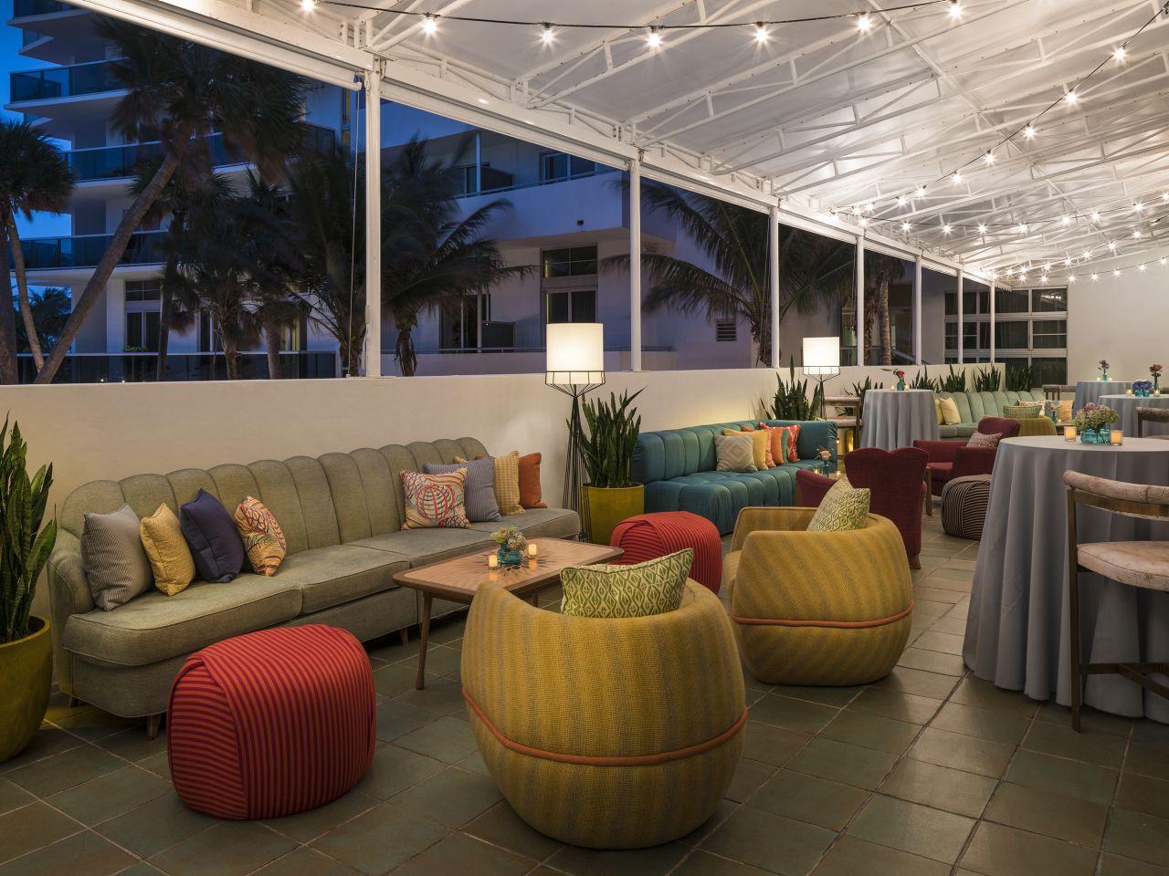 Outdoor Reception Space at The Confidante Miami Beach