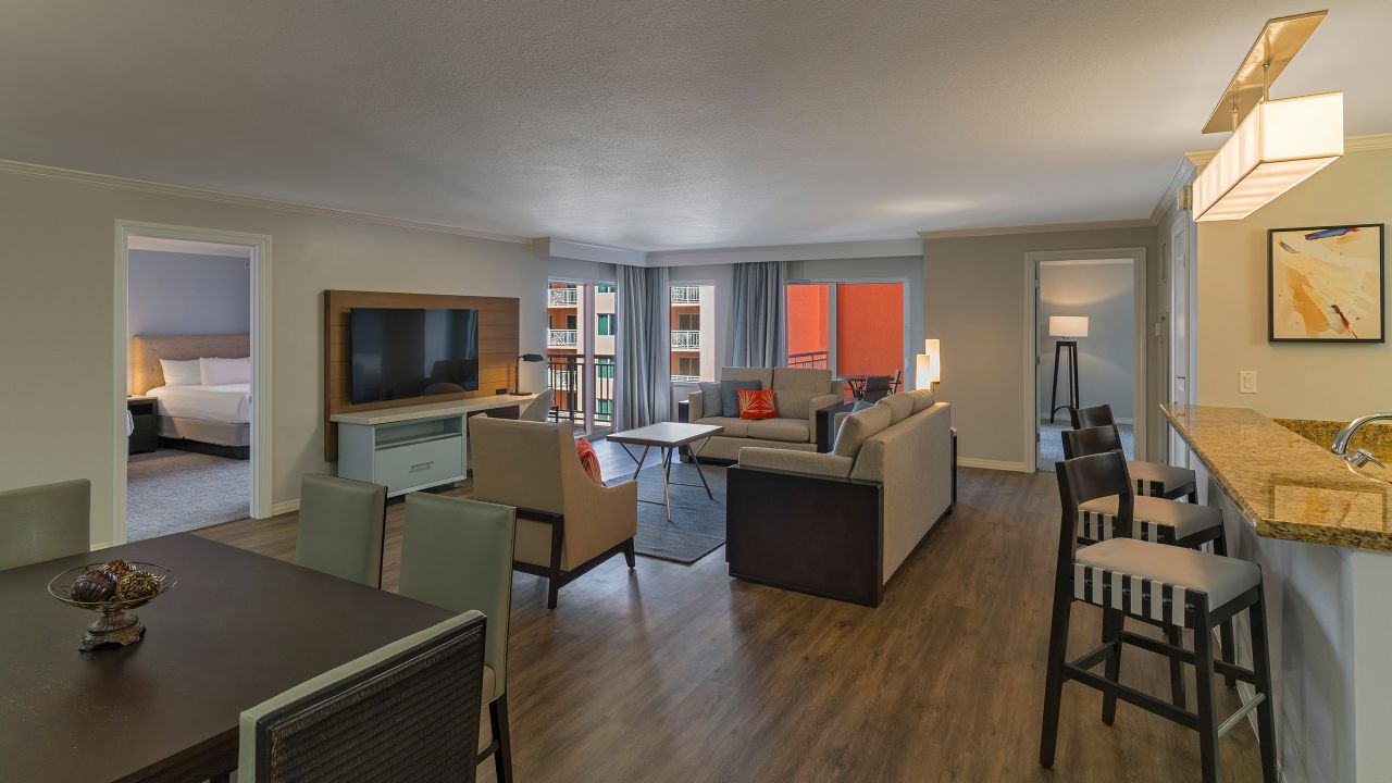 Clearwater Beach Two Bedroom Suite Partial Water View