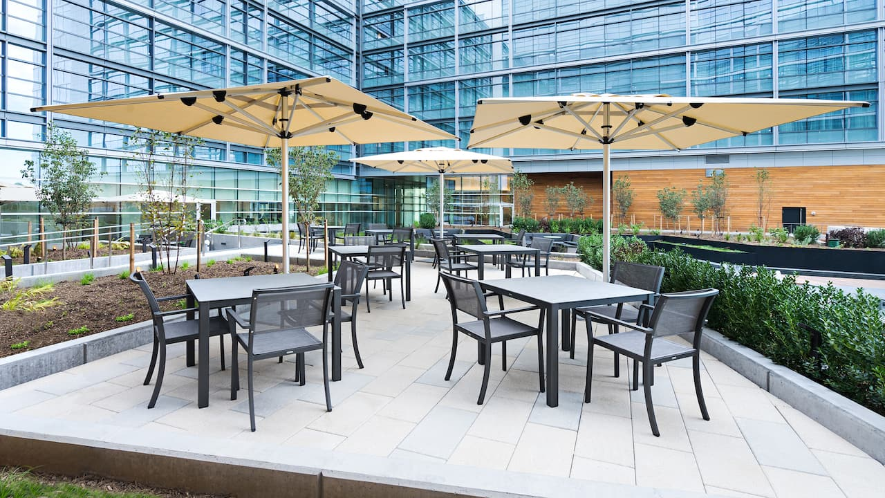 Hyatt House Washington DC, exterior, outdoor seating
