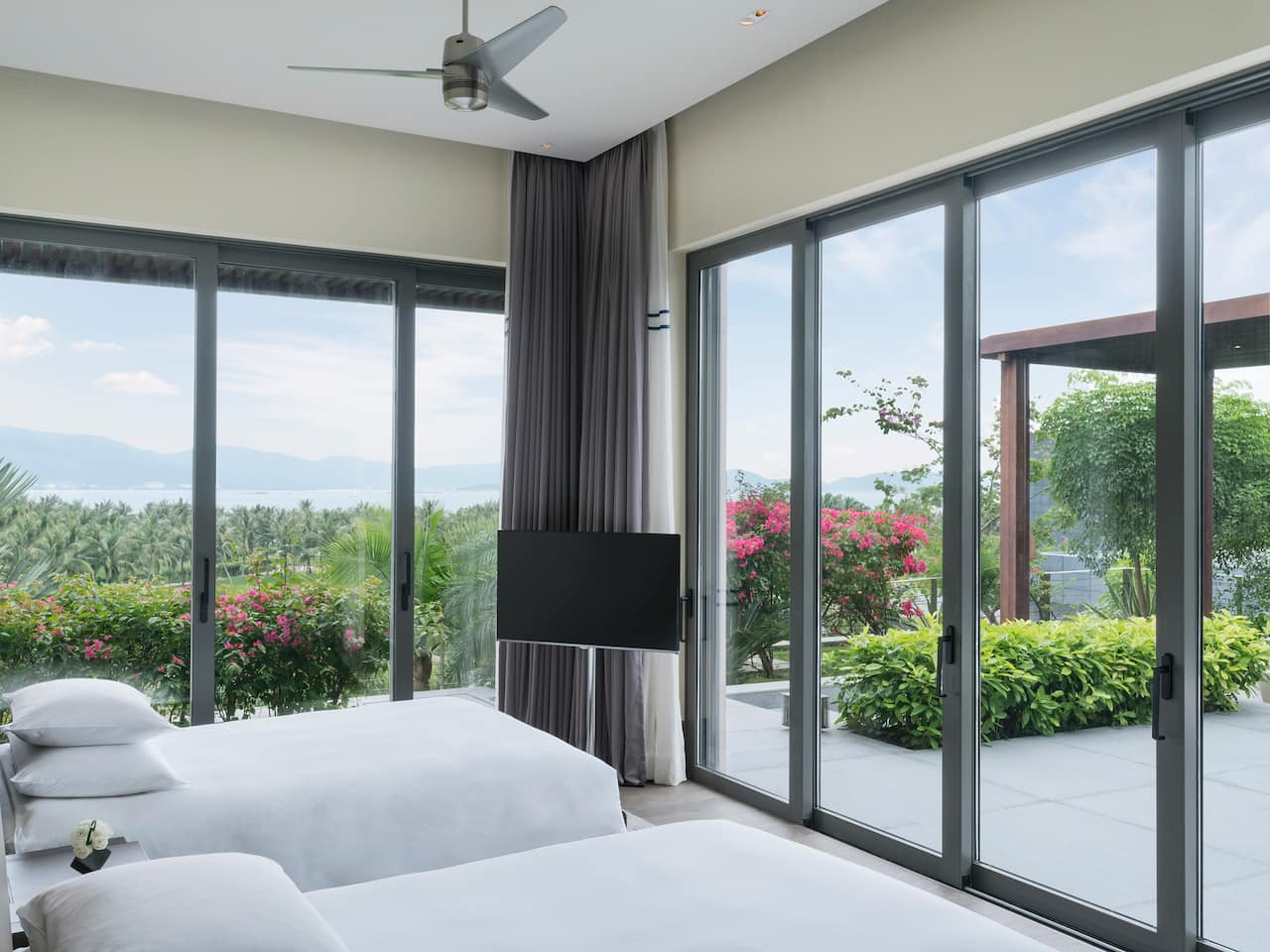 Ocean View Villa Bed Room Twin