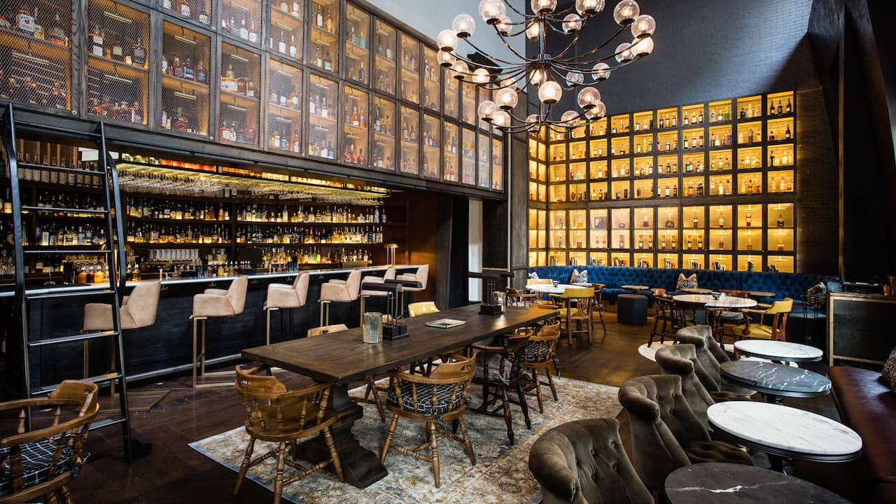 Library of Distilled Spirits at Hyatt Union Square New York