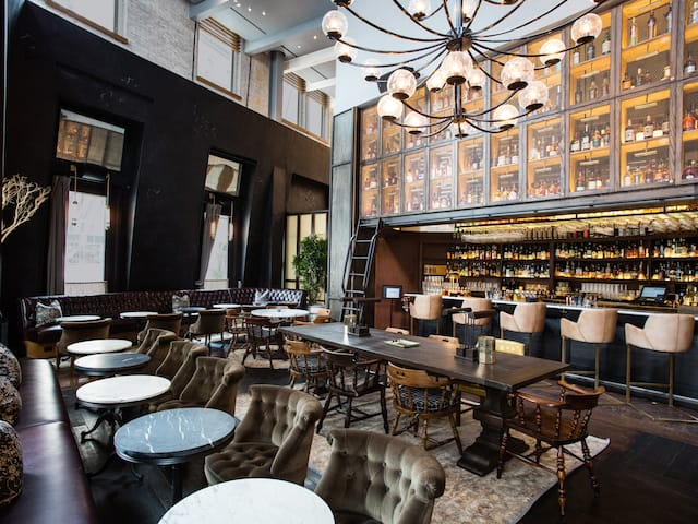 Library of Distilled Spirits Interior