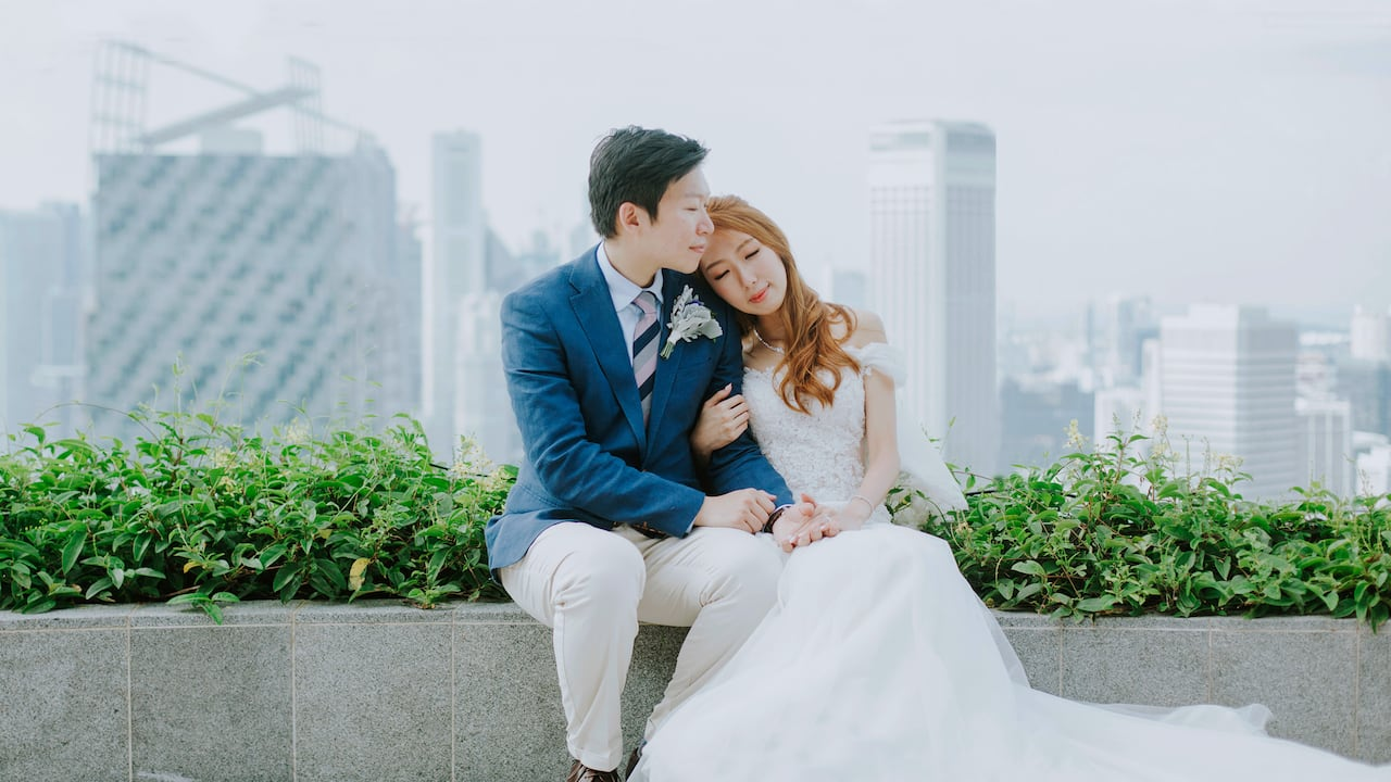 Andaz Singapore Weddings, Romantic Skyline & Daylight Wedding at Andaz Singapore