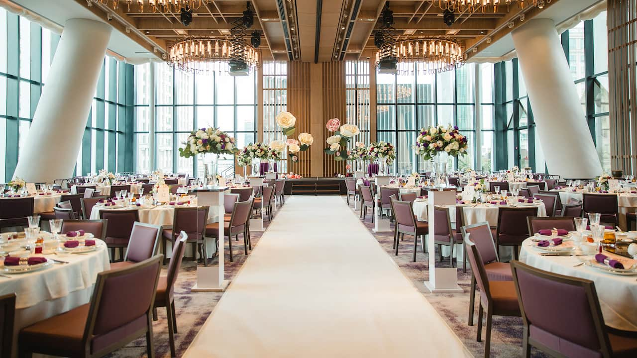 The glasshouse wedding venue hotel Andaz Singapore at Fraser street duo tower