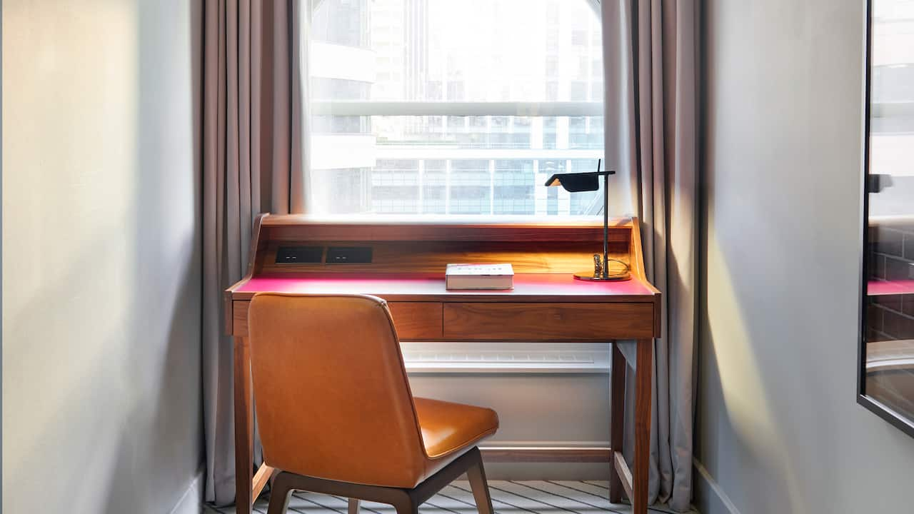 Large King Room desk with chair at Andaz London Liverpool Street