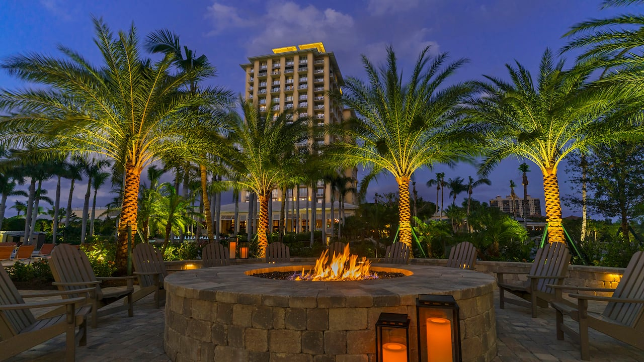 Full Service Hotels in Bonita Springs, FL firepits and family activities - Hyatt Regency Coconut Point Resort & Spa