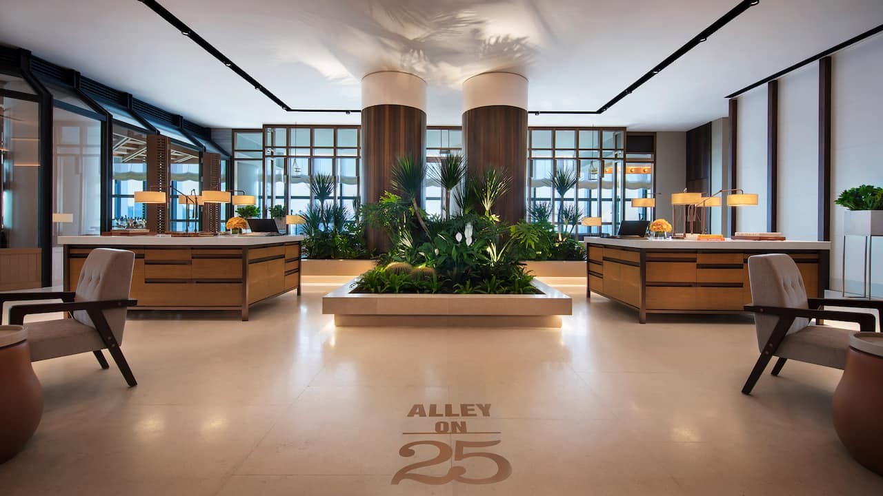 Alley on 25 Lobby Andaz Hotel Singapore