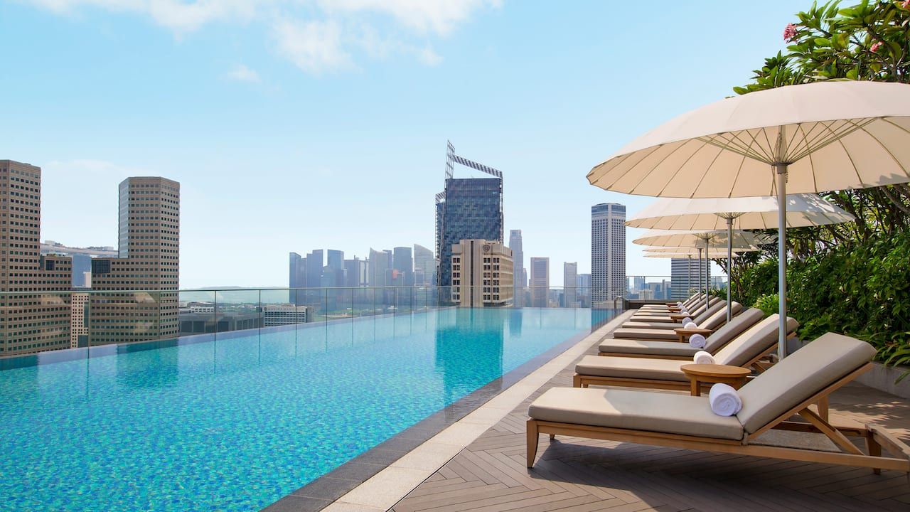 Rooftop pool at Andaz Singapore, new hotel near Suntec Singapore