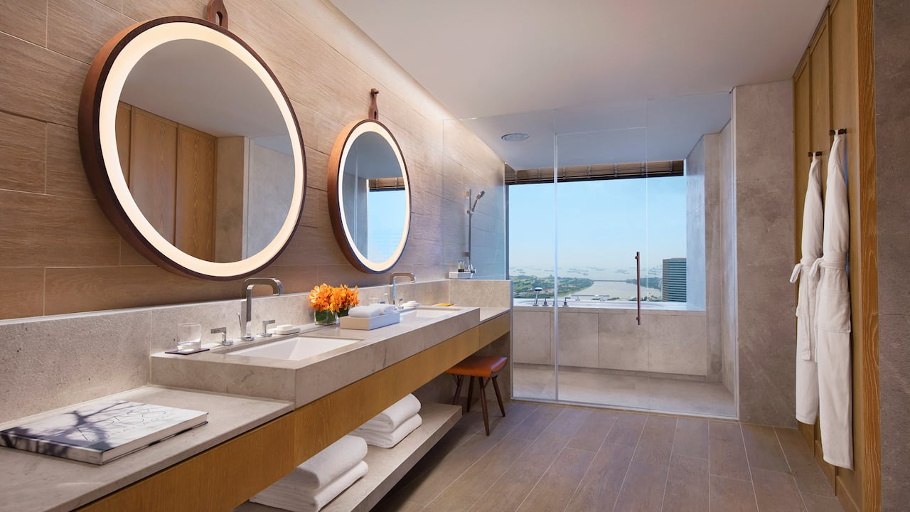 Suite Bathroom Andaz Singapore Studio Suite and Andaz Residence Suite