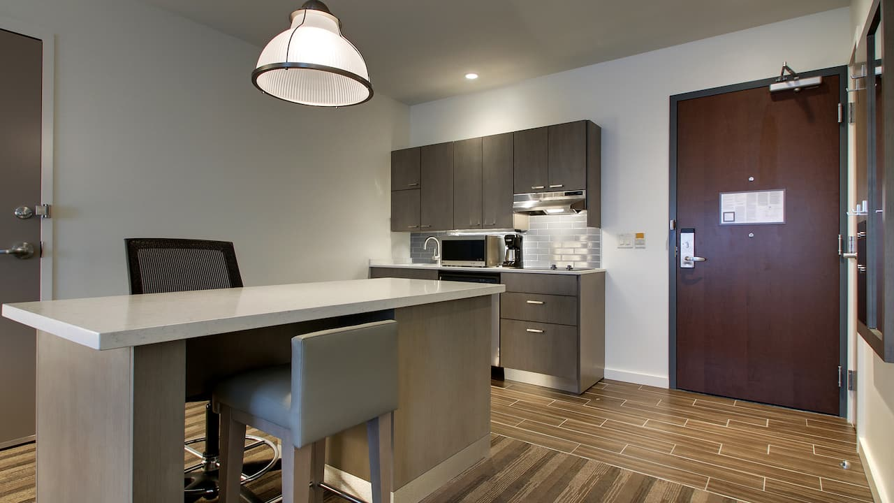 Studio Suite Accessible Kitchen Island