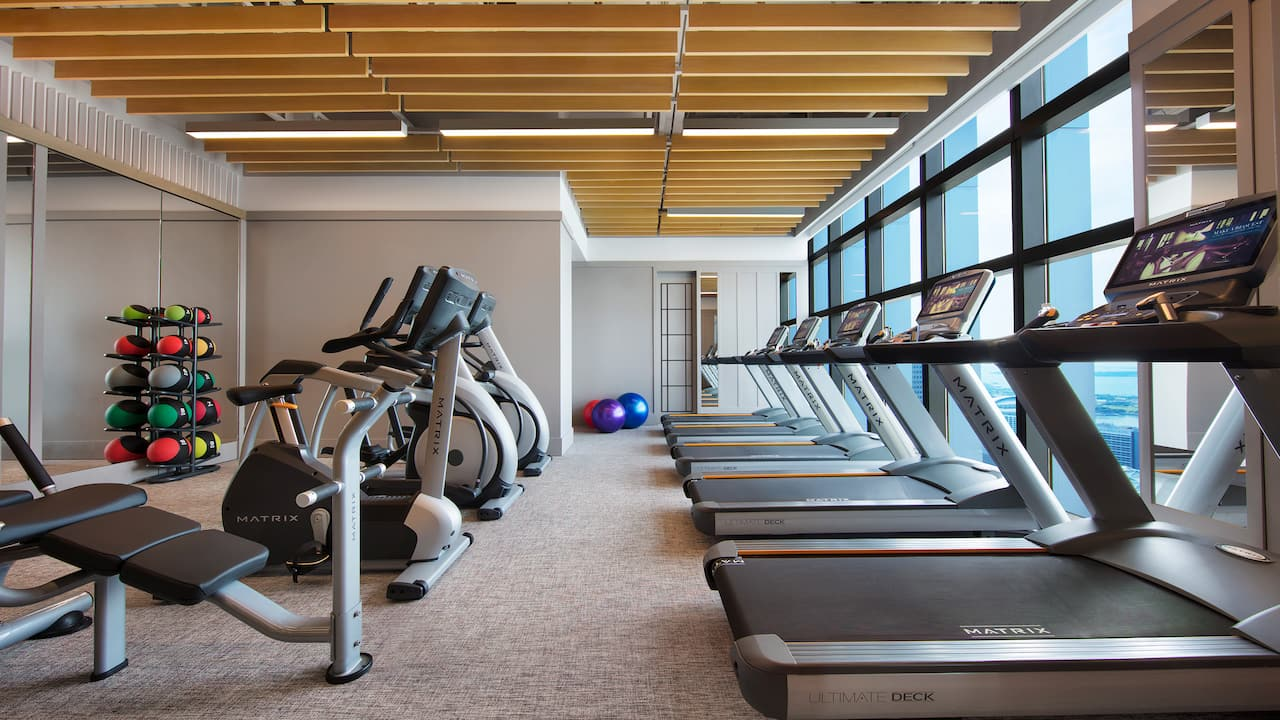 Fitness center at the Andaz Singapore Lifestyle Hotel