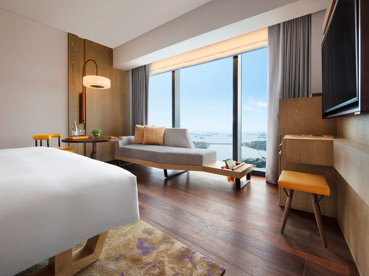 Inspiring hotel rooms skyline views of Singapore, Andaz Singapore