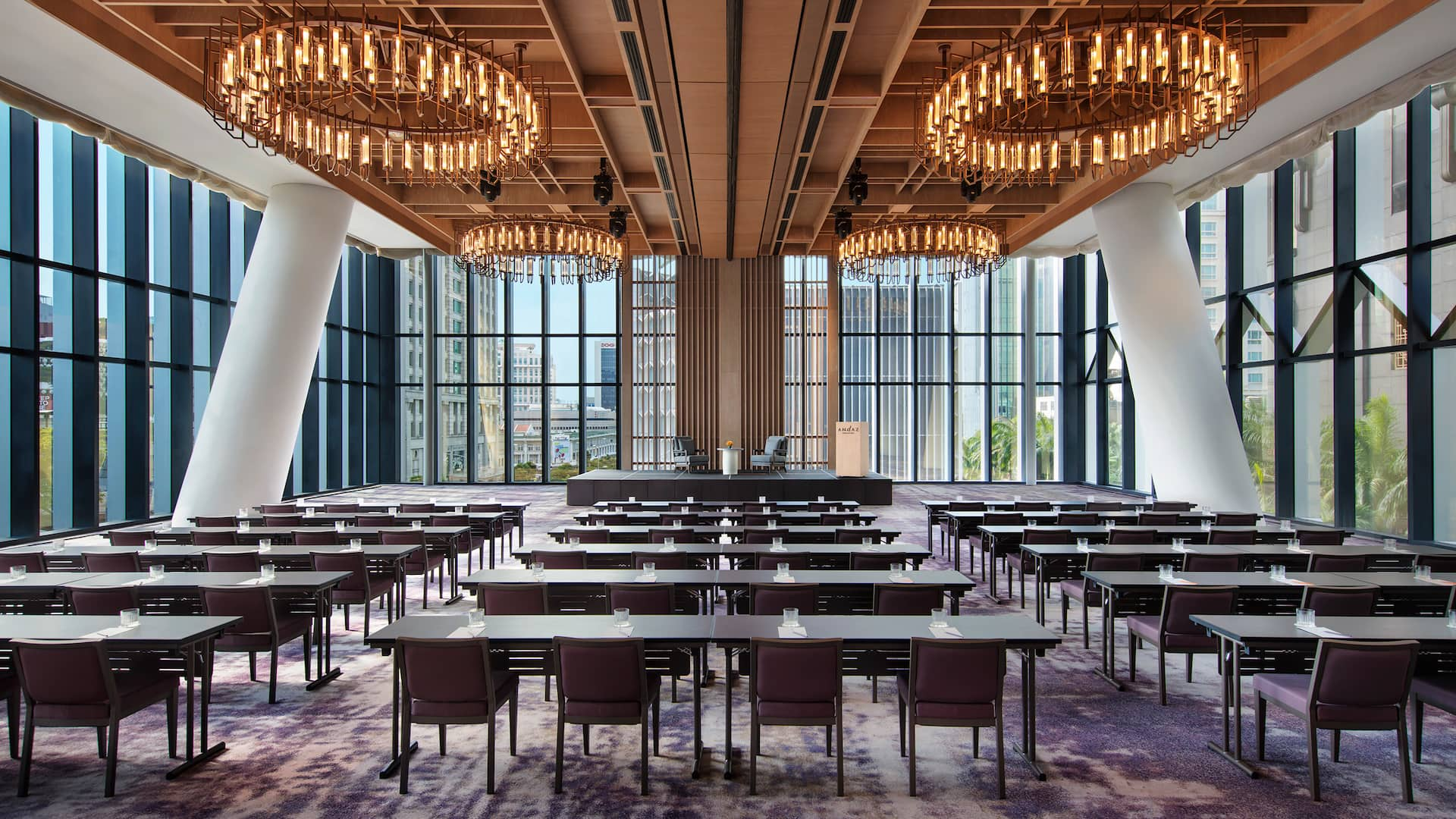 The Glasshouse (Classroom Style Seating) Meetings and Events at Andaz Hotel, Singapore