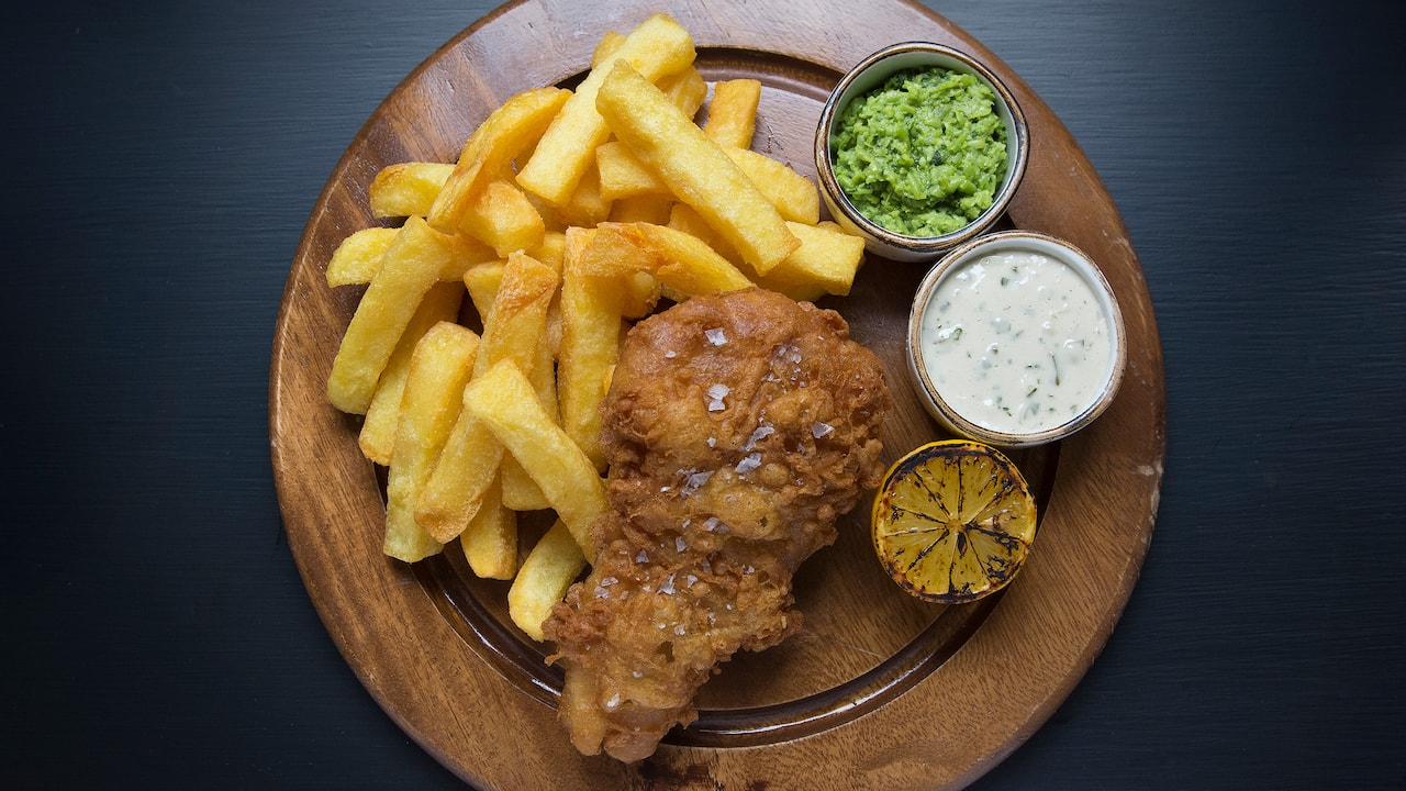 Fish and chips East London | Lady Abercorn's Pub | Andaz London Liverpool Street