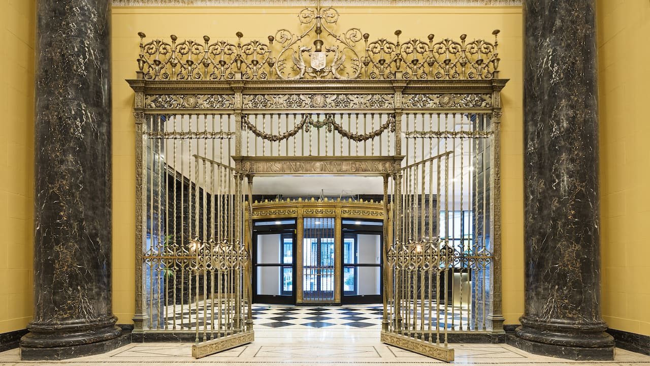 Hyatt House Jersey City Entrance Gate