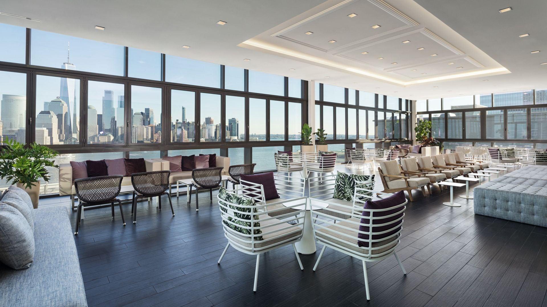 Hyatt House Jersey City Rooftop Terrace Bar