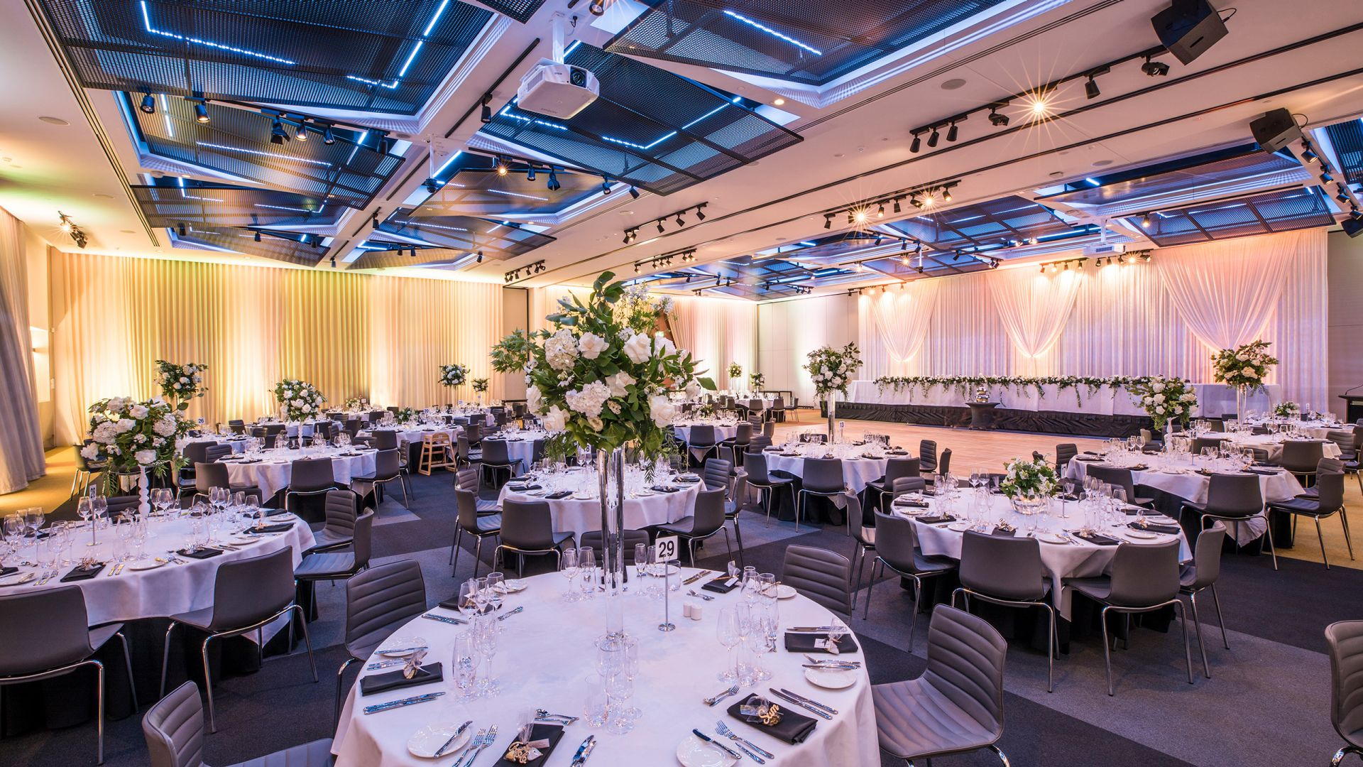 Wedding set up Hyatt Place Melbourne Australian Events Centre