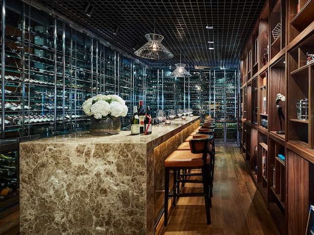 Square One wine cellar at Park Hyatt hotel Ho Chi Minh City Vietnam