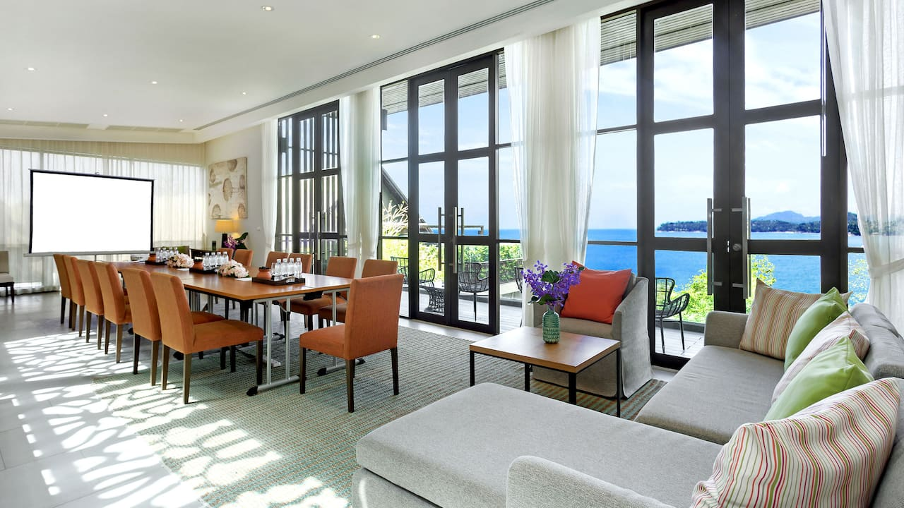 5-star Phuket hotel meeting setup Premier Suite