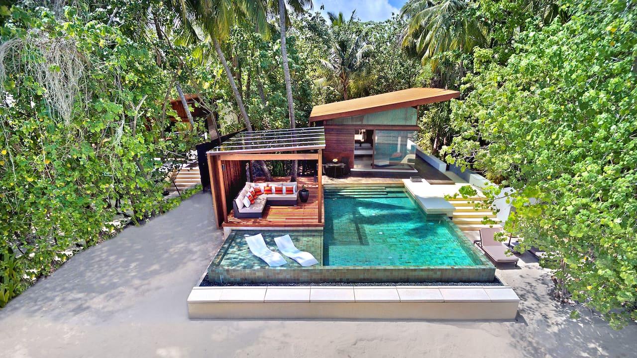 Deluxe Pool Villa Aerial