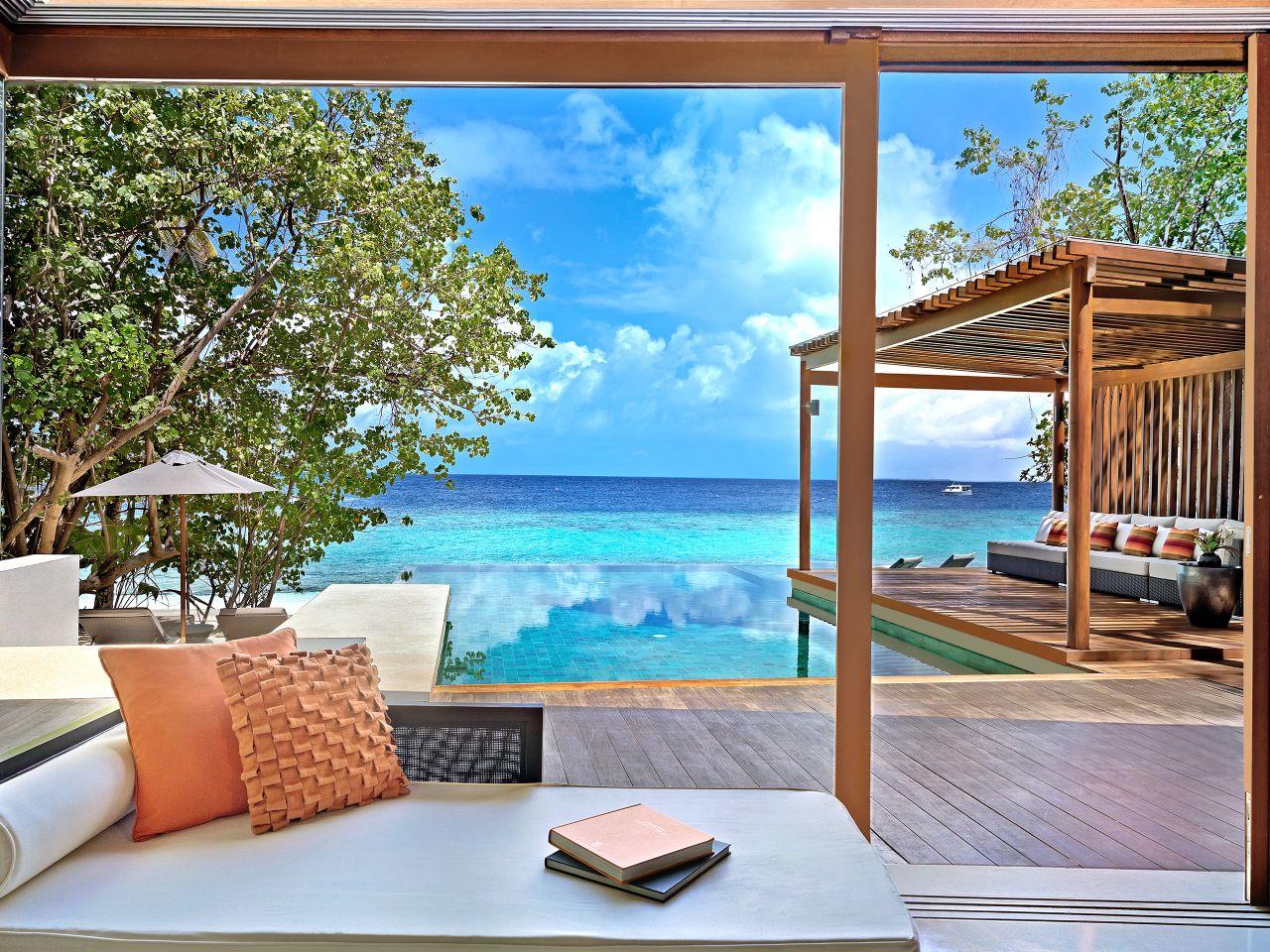 villa over water exterior