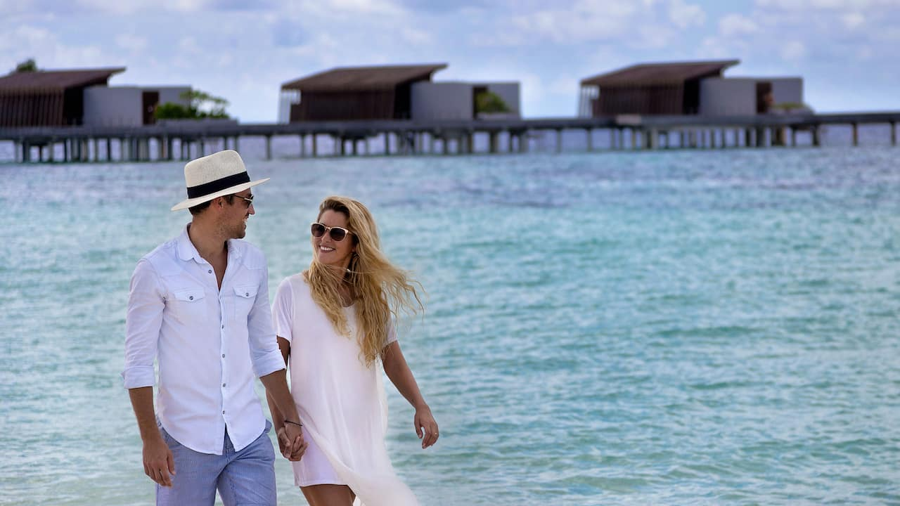 Park Hyatt Maldives Hadahaa Couple Walking