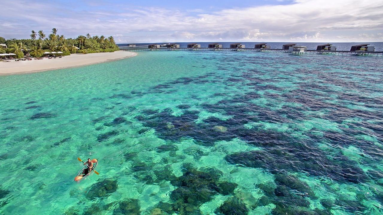 Park Hyatt Maldives Hadahaa Aerial Beach Lagoon
