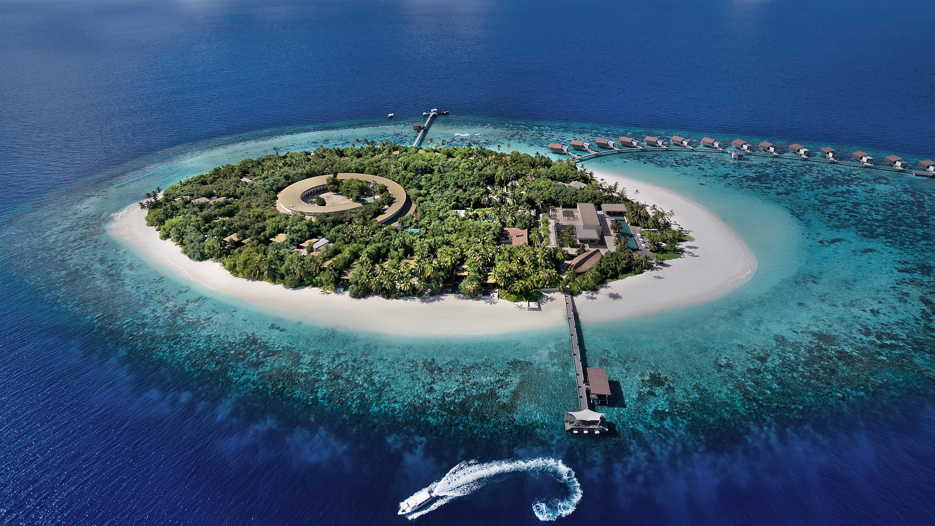 Best Luxury Maldives Resort Aerial Island View
