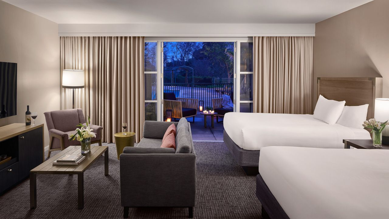 Hotel Room with Two Queen Beds and Patio at Hyatt Regency Sonoma Wine Country