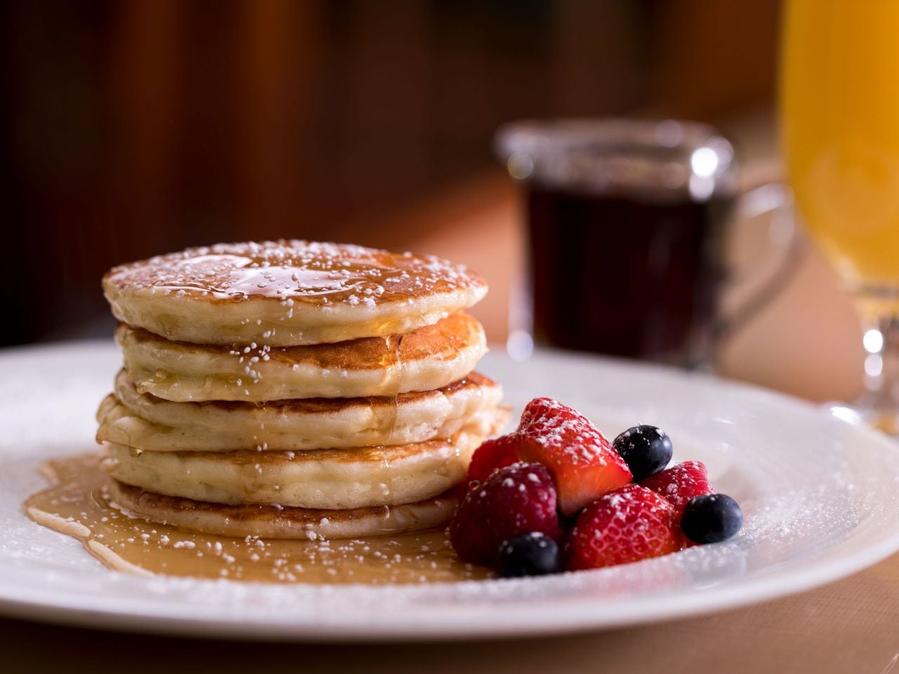 Pancake breakfast with fruit at Hyatt Regency Orlando