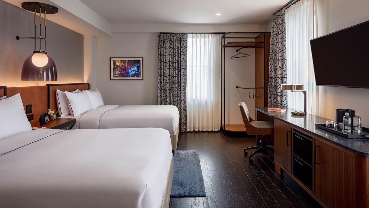 Suite Two Queen Beds Bedroom