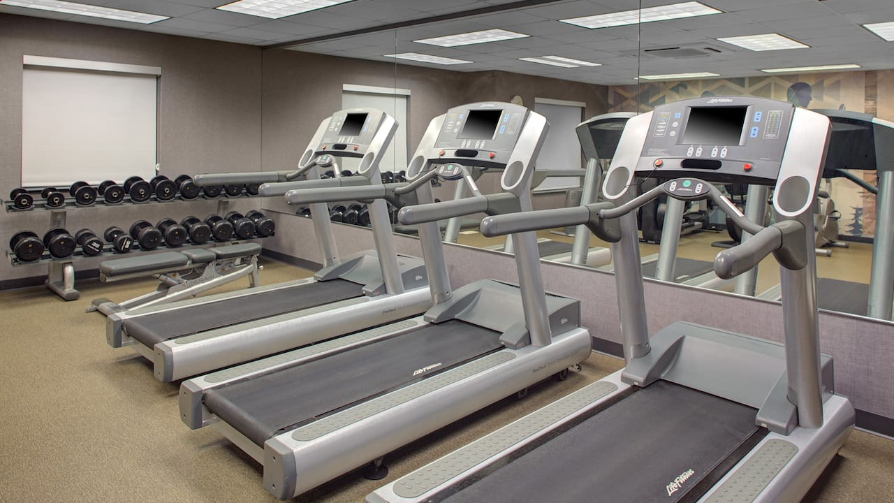 Treadmills and weights
