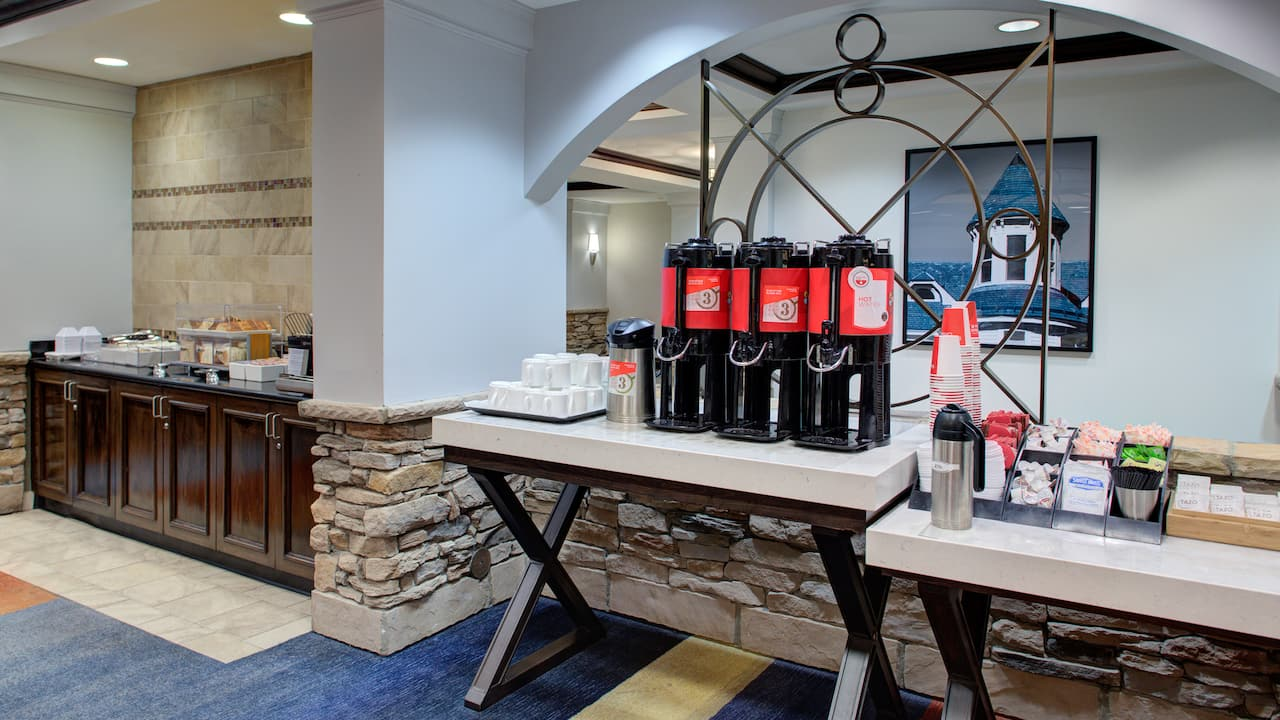 Free Hot Coffee bar at the Hyatt House Sterling / Dulles Airport - North