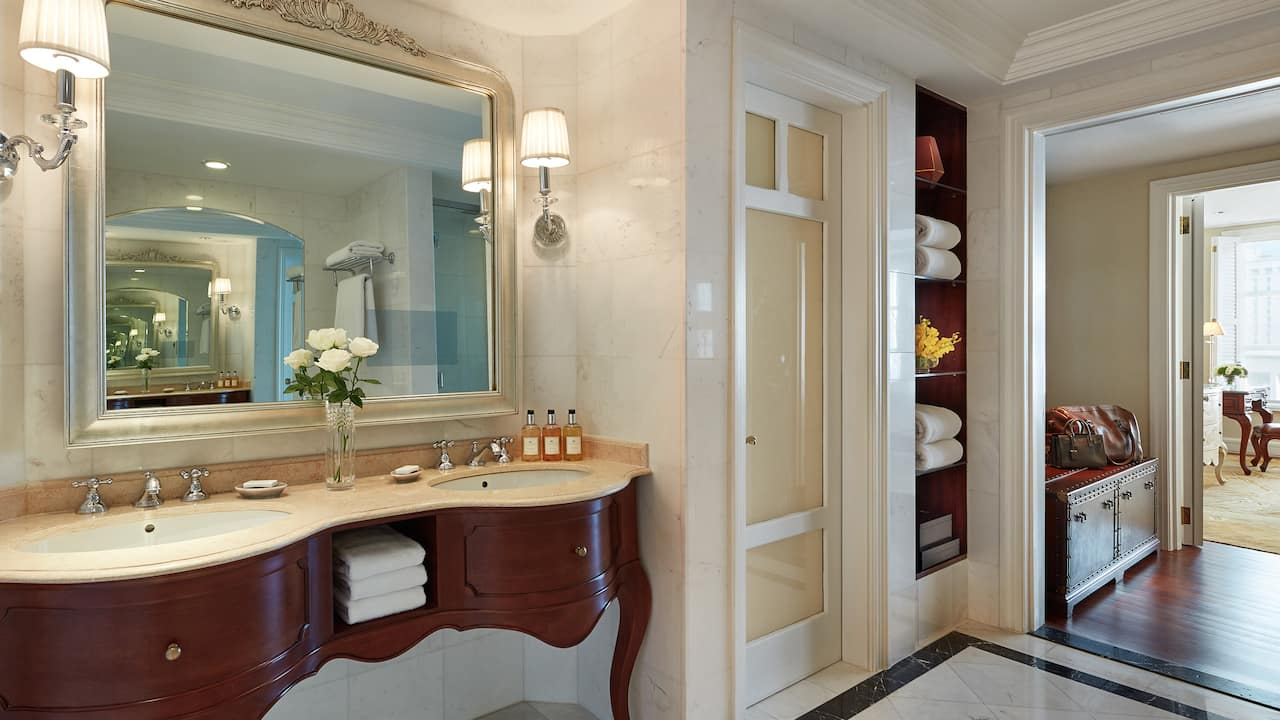 Park Hyatt Saigon Park Executive Suite with Luxurious Marble Bathroom