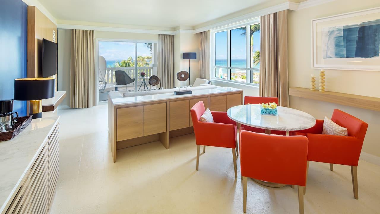 Ocean View Suite Living Room