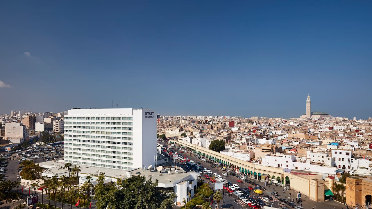 Aerial daytime view of Hyatt Regency Casablanca